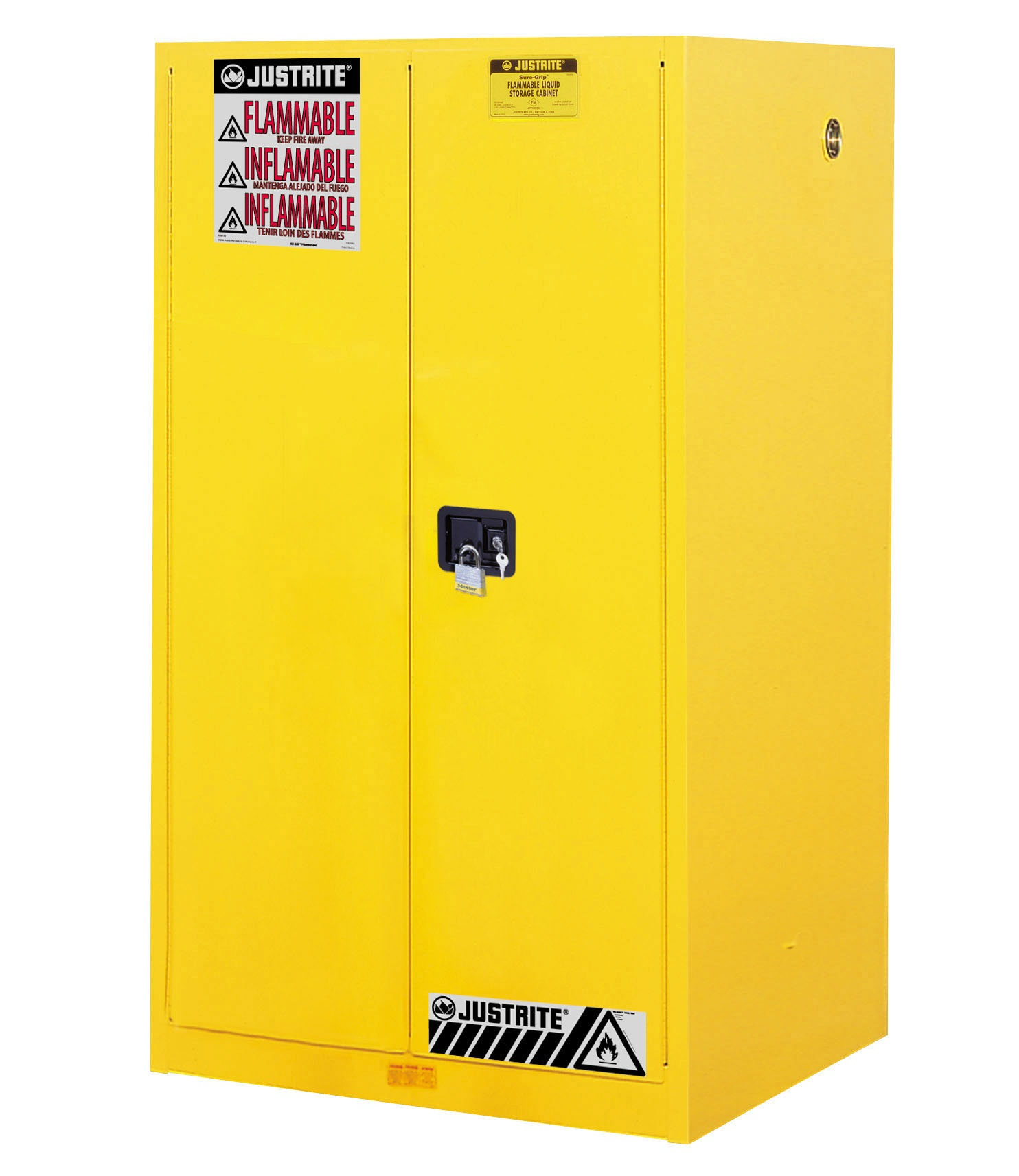 JUSTRITE 60 GAL MANUAL CABINET SURE-GRIP EX WITH PADDLE HANDLE JUM896000