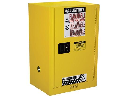 JUSTRITE 12 GAL CABINET 1 DOOR MANUAL, COMPAC SURE- GRIP W/HANDLE JUM891200