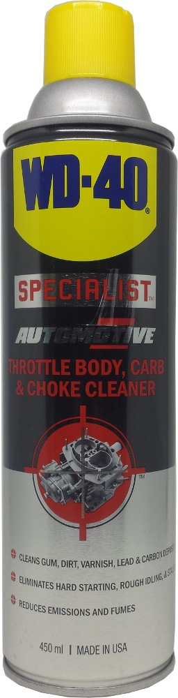 WD40 SPECIALIST AUTOMOTIVE THROTTLE BOBY CARB & CHOKE CLEANER 450ML