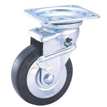 Nansin #50 Rubber Caster Swivel Brake