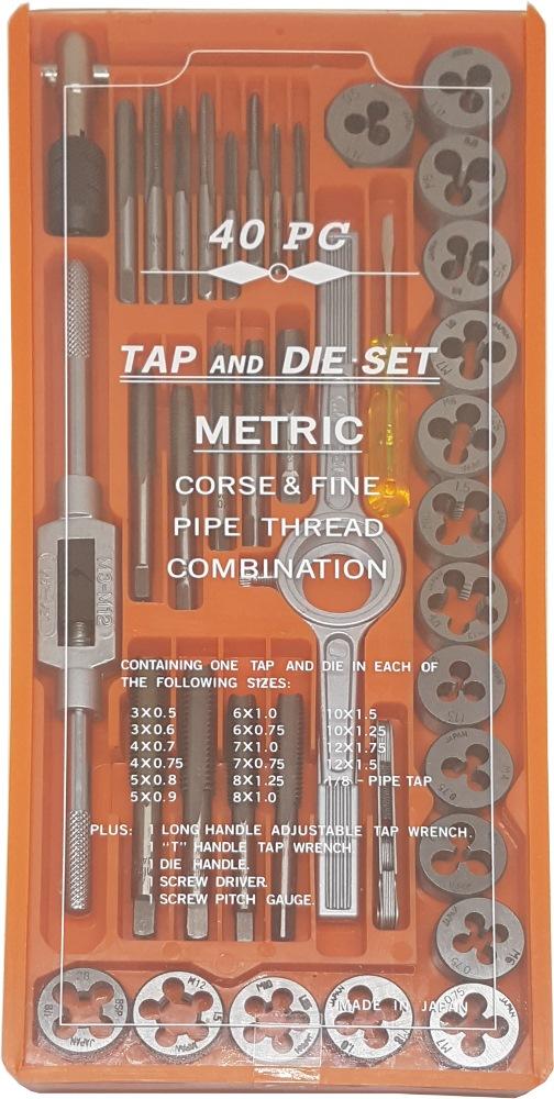 089-52-40M SKC TAP & DIE SET (40PCS)- MM SIZE