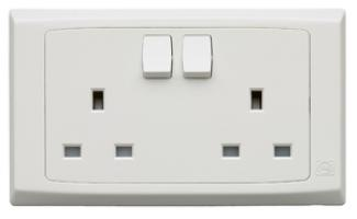 Mk 2 Gang 13a Sp Switch Socket Outlet R2747WHI