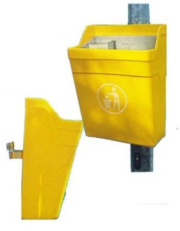 Post Mounted Litter Bin 30l P30 - 365w X 230d X 520ht