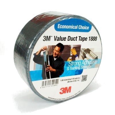 3M VALUE DUCT TAPE 1888 48MM X 50YD SILVER