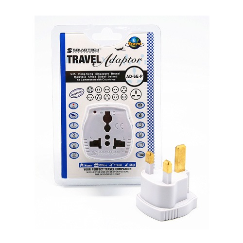 SOUNDTEOH TRAVEL ADAPTOR W/LED AD-6E