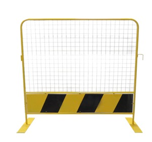 MESH METAL BARRICADE 1.8MTR X 1.8MTR (BLACK/YELLOW)