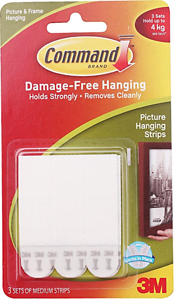 3m Command Medium Picture Hanging Strip 17201