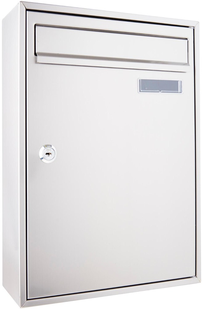 SECURE STAINLESS STEEL LETTER BOX TX0126