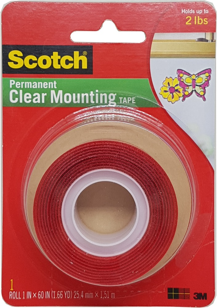 3m Scotch Clear Mounting Tape 21mm X 2 Metre 4010