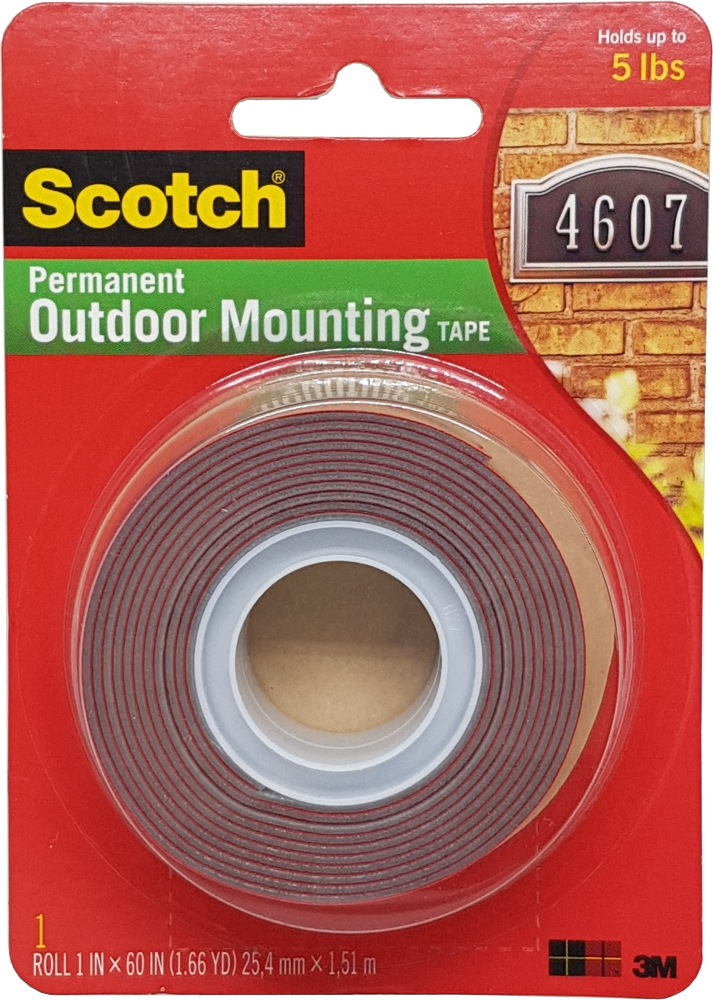 "3m Scotch Super Strong Mounting Tape 1"" X 60"" 4011"