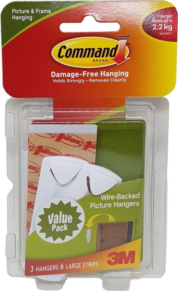 3m Command Wire Backed Picture Hanging Hooks Vp 17043VP