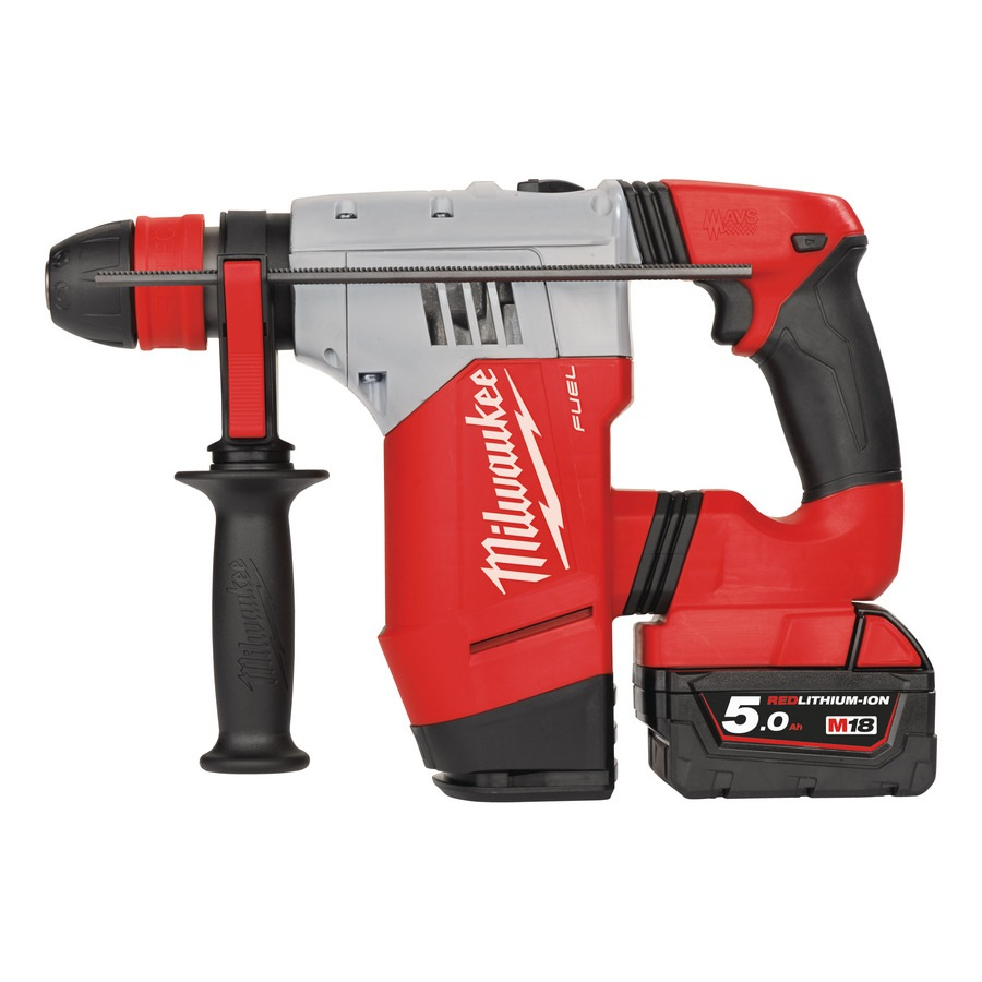 MILWAUKEE 28MM 18V 2X5.0 AH LI-ION SDS+ ROTARY HAMMER, M18CHPX-502C
