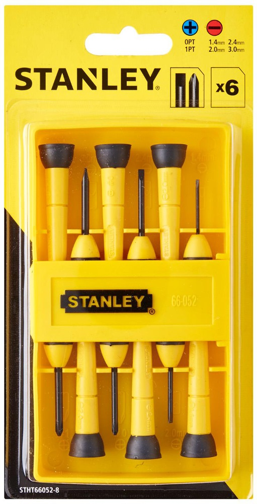 STANLEY 6PCS BIMATERIAL PRECISION SCREWDRIVER SET 66-052