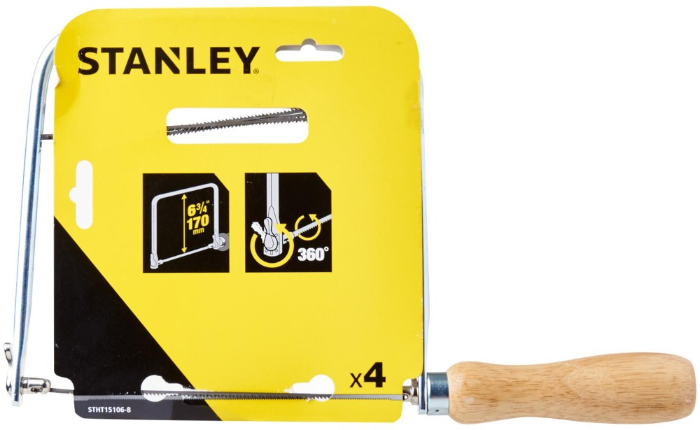 """Stanley Coping Saw 6-3/4"""" Frame Depth Stht15106-8"""