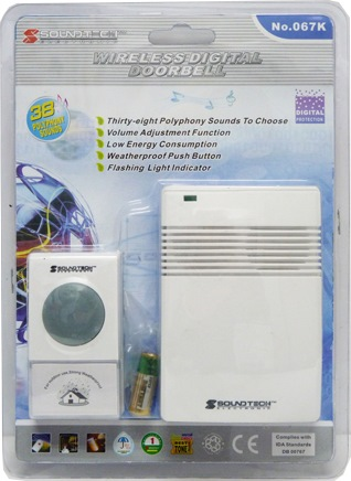 SOUNDTEOH DIGITAL WIRELESS DOORBELL 067K