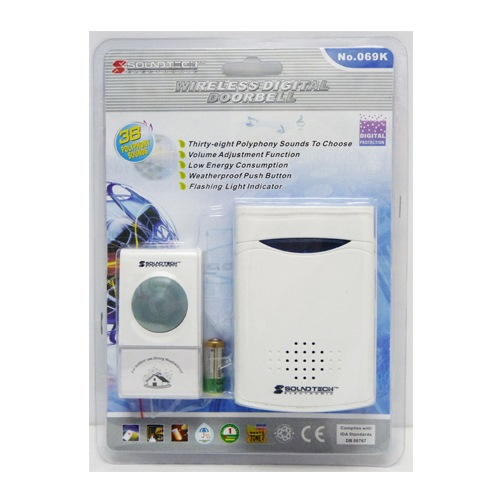 SOUNDTEOH DIGITAL WIRELESS DOORBELL 069K