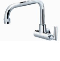 ARINO T-3041WB WALL SINK TAP WITH LOW SWIVEL 'L' SPOUT LEVER HANDLE