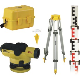 STANLEY FATMAX AL32 AUTOMATIC OPTICAL LEVEL W/5M MEASURING STAFF, TRIPOD