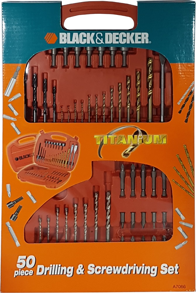 Black and Decker 50 Pcs Drilling & Screwdriving Set A7066