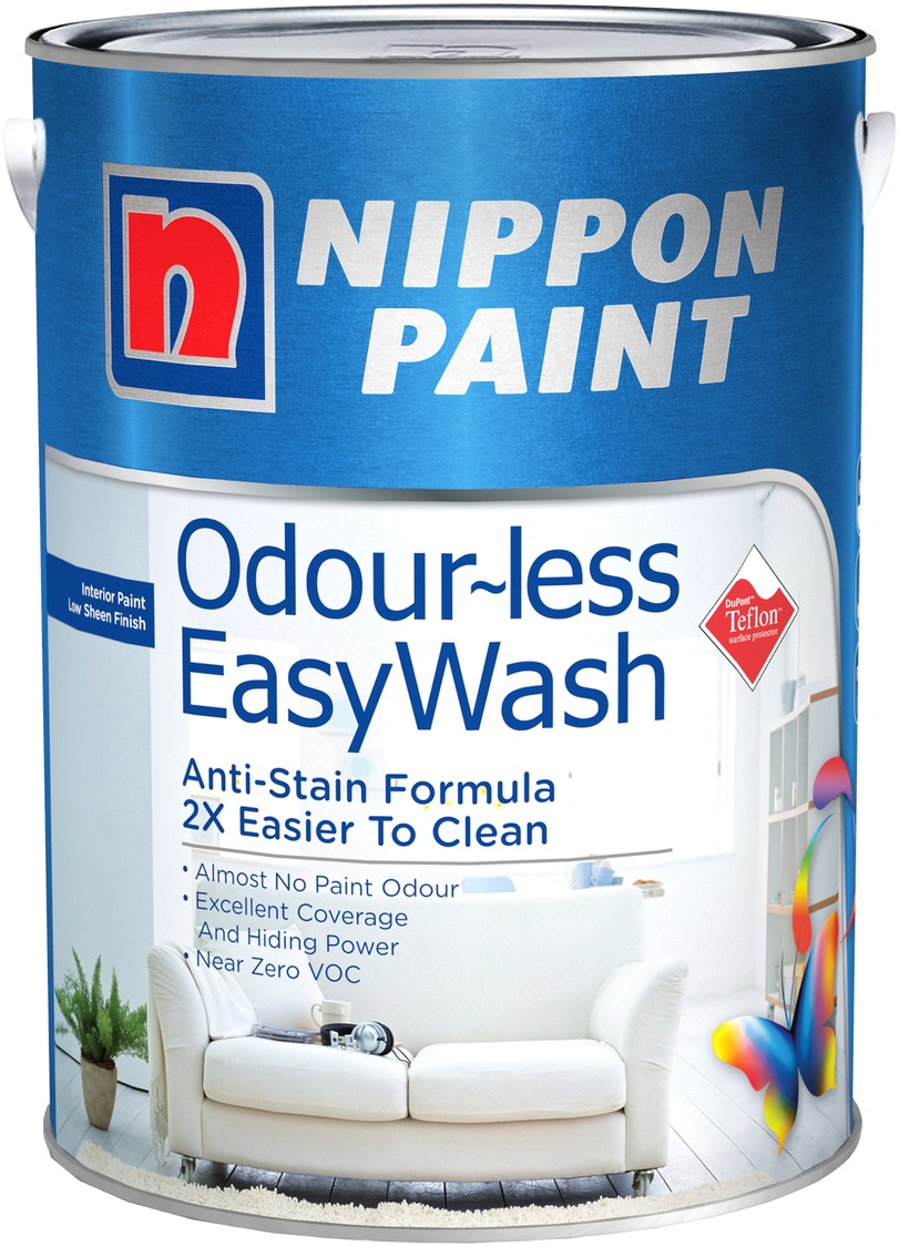 NIPPON PAINT ODOURLESS EASYWASH 5L [CAPTIVATING ACCENTS SERIES]