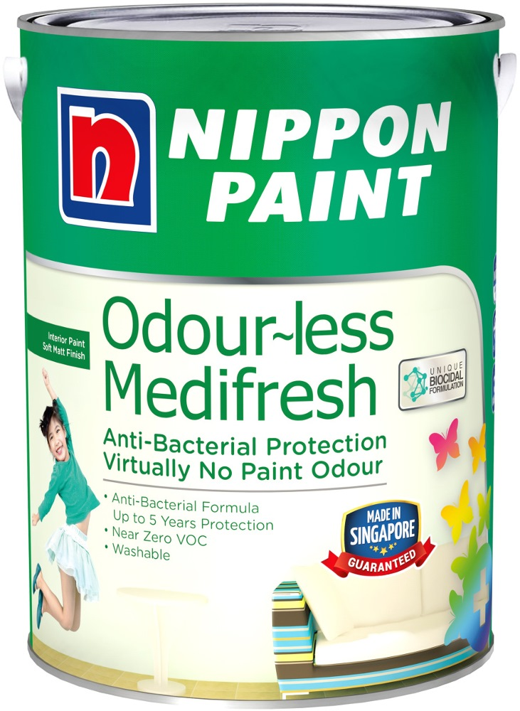 NIPPON PAINT ODOURLESS MEDIFRESH 1L [1127 COLOURS]
