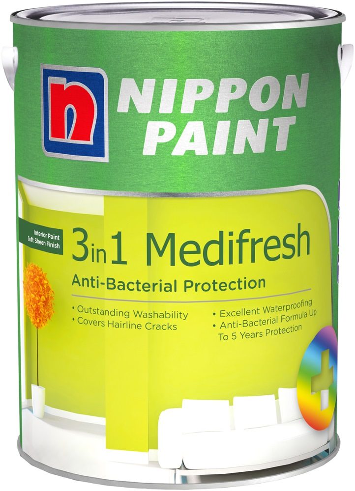 NIPPON PAINT 3-IN-1 MEDIFRESH 5L [1147 COLOURS]