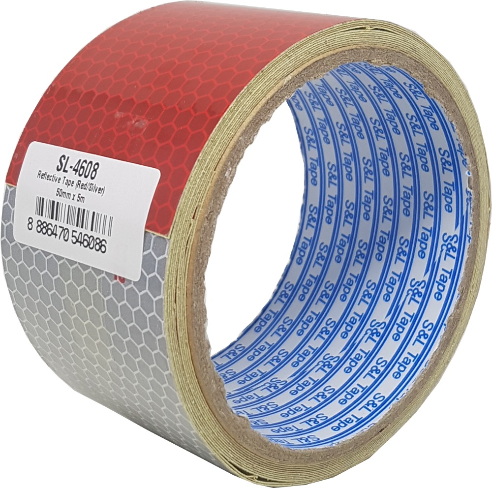 "SL REFLECTIVE TAPE RED & SILVER DOT-C2 (2"") 50MMX3M - SL4608"