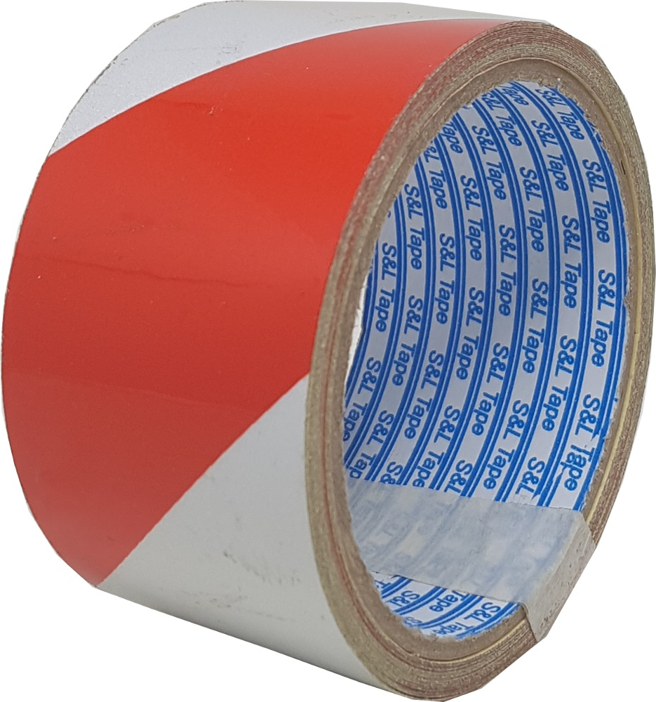 "SL REFLECTIVE TAPE RED & WHITE (2"") 50MMX5M - SL4603"