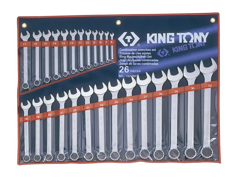 King Tony 26pcs Combination Spanner Set 1226MR