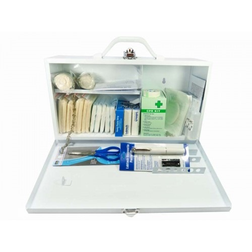 MEDICAL METAL FIRST AID BOX A (25 PERSON)