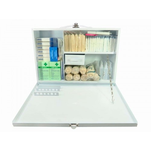 MEDICAL METAL FIRST AID BOX C (100 PERSON)