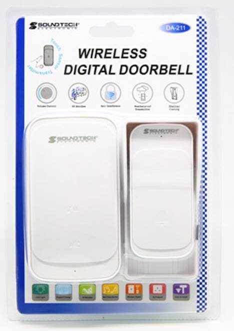 SOUNDTEOH WIRELESS DIGITAL DOORBELL DA-211