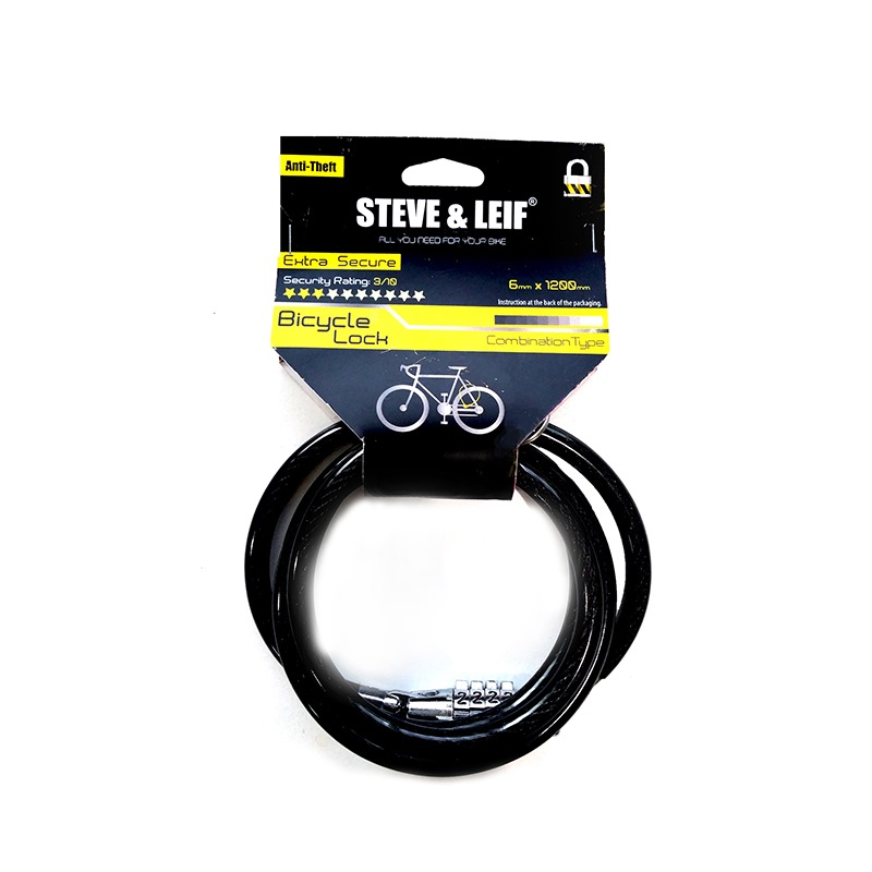 SL BICYCLE COMBINATION LOCK 6MMX1200MM SL-6044