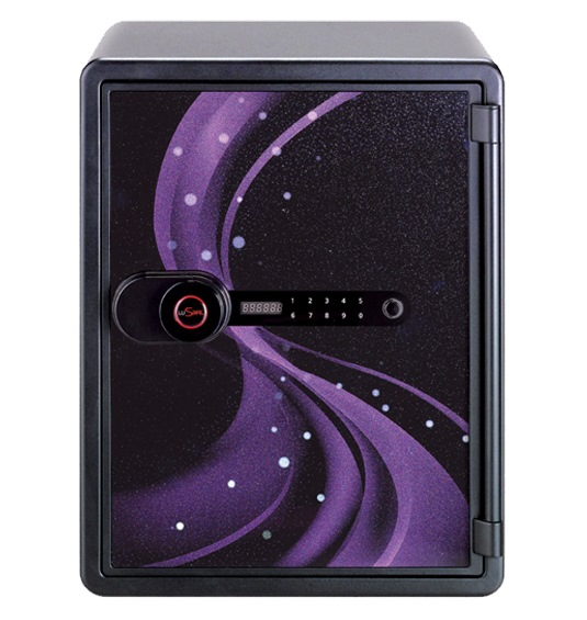LUSAFE SAFE NPS-031DAP AURA PURPLE W/MOTOR LOCK 530(H)X410(W)X470(D)MM 63KG