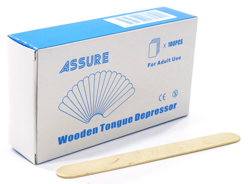 ASSURE WOODEN TONGUE DEPRESSOR-100PPP
