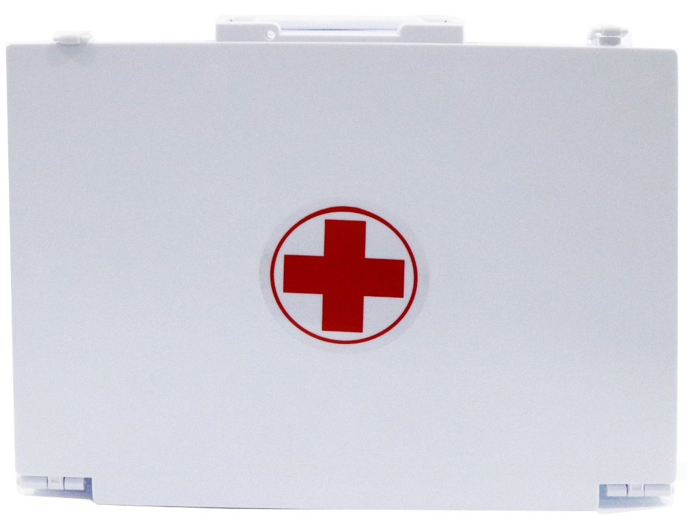 PLASTIC FIRST AID BOX C (100 PEOPLE USE) COMPLETE / REFILL