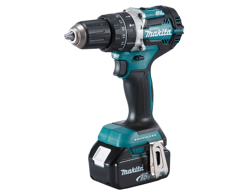 Makita Li-ion Brushless Hammer Driver Drill DHP484RTE - (18v 5.0ah)