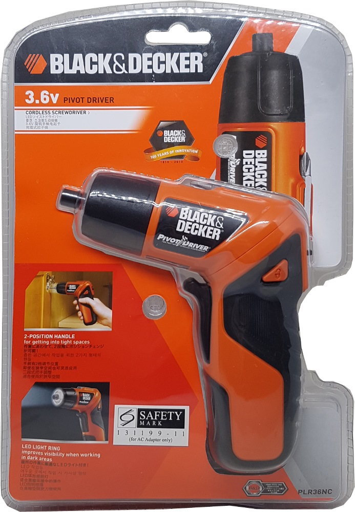 Black and Decker 3.6v Pivot 180 Screwdriver With Led PLR36NC