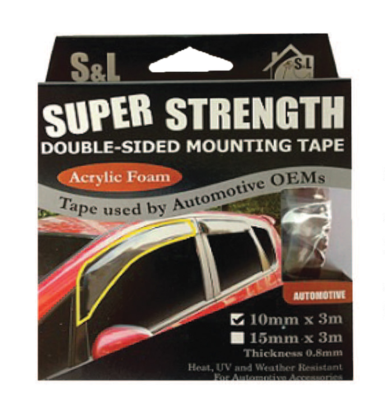 SL AUTOMOTIVE ACRYLIC DOUBLE SIDED TAPE 3M