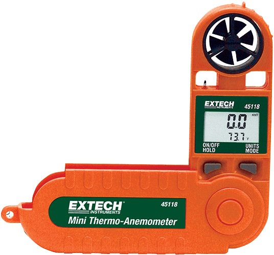 EXTECH POCKET MINI THERMO ANEMOMETER WITH TEMPERATURE 45118