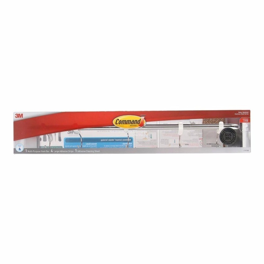 3m Command Stainless Steel Metal Utensil Bar 17676B