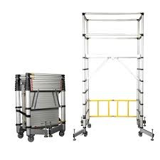 LOUISON DL SERIES TELESCOPIC PLATFORM SCAFFOLD MAX WORK HT 4M DL210