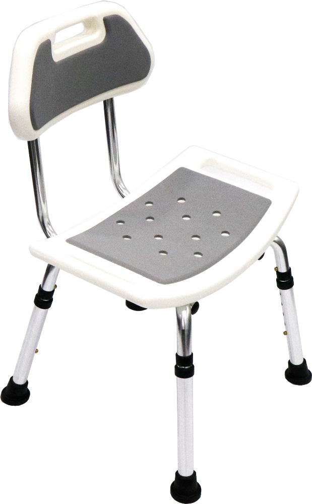Assure Aluminium Adj.shower Seat With Eva Foam & Backset AR0248