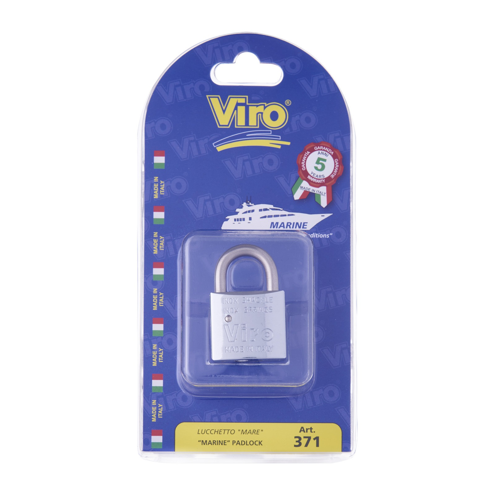VIRO MARINE PADLOCK SHORT SHACKLE - 371 / 373