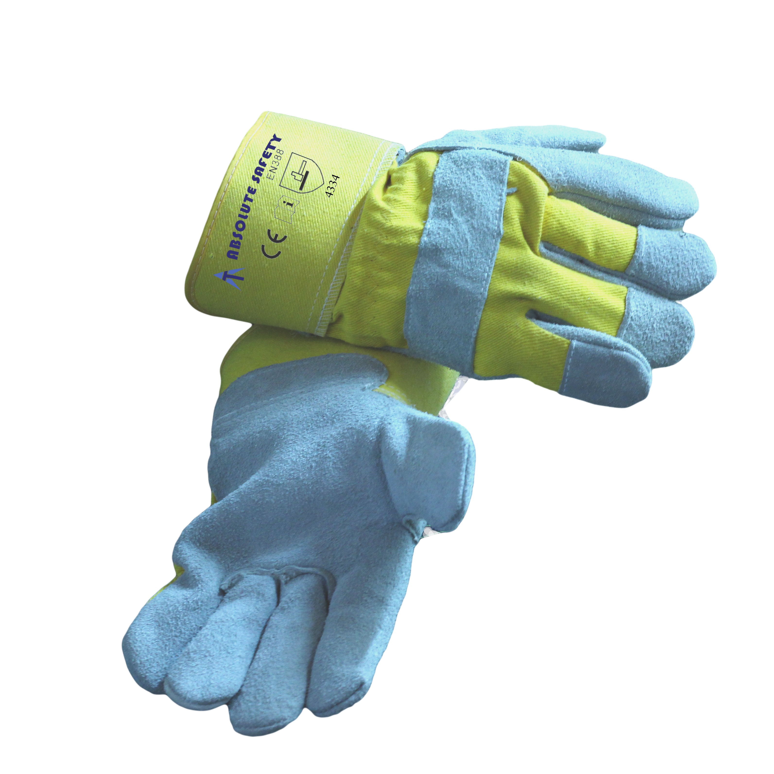 ABSOLUTE SAFETY YELLOW CANADIAN GLOVE EN388 4334 CUT 3