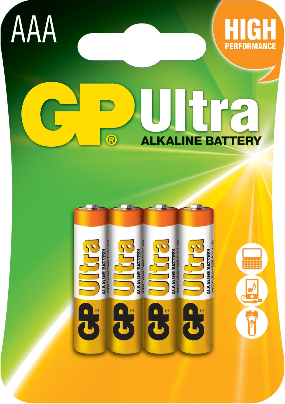 Gp Ultra Alkaline Battery Aaa Gp3a4b (carton of 10 Packs)