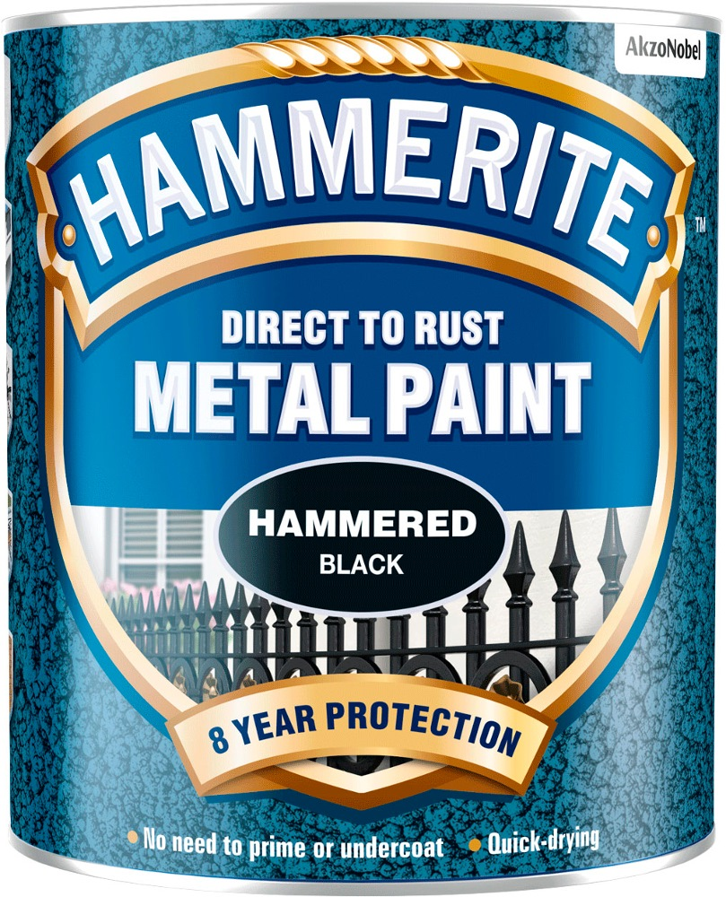 HAMMERITE DIRECT TO RUST METAL PAINT HAMMERED 750ML