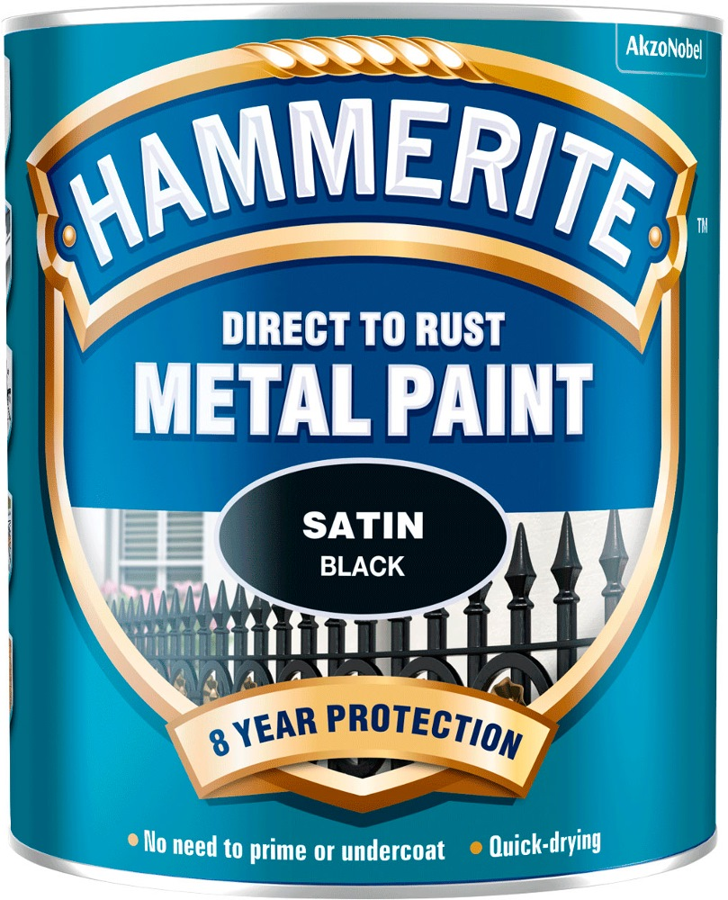 HAMMERITE DIRECT TO RUST METAL PAINT SATIN 750ML