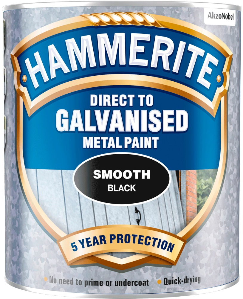 HAMMERITE DIRECT TO GALVANIZED METAL PAINT SMOOTH 750ML