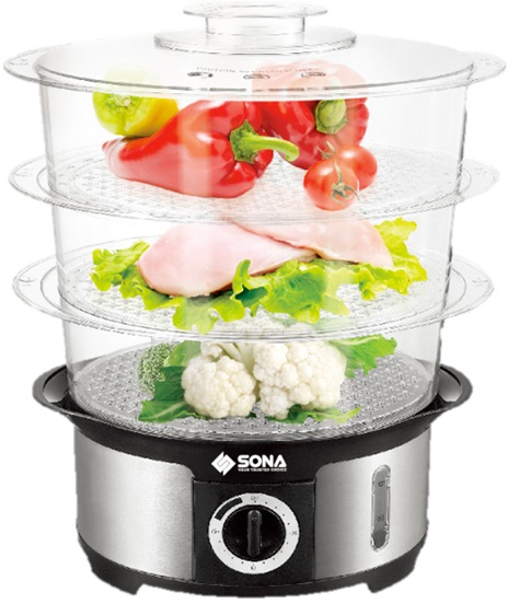 SONA 3 LAYER ELECTRIC STEAMER SST3101